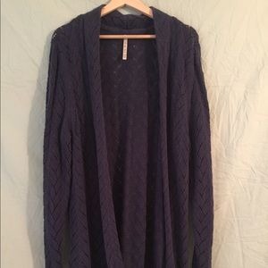 Navy Blue Crotchet Cardigan